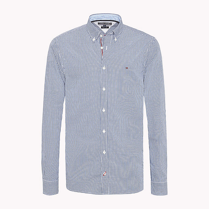 TOMMY HILFIGER Regular fit geruit overhemd - SHIRT BLUE / BRIGHT WHITE - TOMMY HILFIGER Kleding - main image