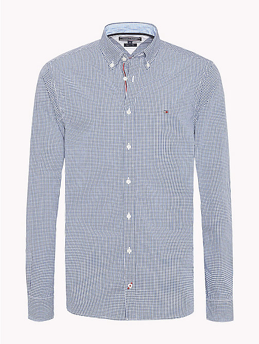 TOMMY HILFIGER Check Regular Fit Shirt - ESTATE BLUE / BRIGHT WHITE - TOMMY HILFIGER Casual Shirts - main image