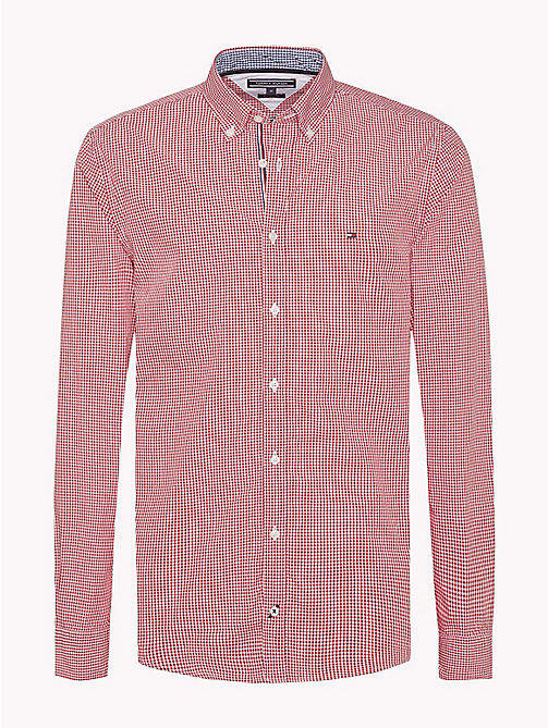 TOMMY HILFIGER Check Regular Fit Shirt - HAUTE RED / BRIGHT WHITE - TOMMY HILFIGER Casual Shirts - main image