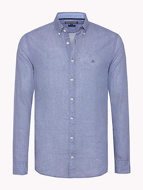 Geometric Regular Fit Shirt - ESTATE BLUE / BRIGHT WHITE - TOMMY HILFIGER Clothing - main image