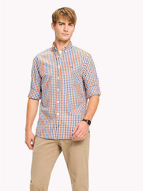 TOMMY HILFIGER Multi-Colour Gingham Regular Fit Shirt - CINNAMON STICK / DUTCH BLUE / BW - TOMMY HILFIGER Casual Shirts - detail image 1