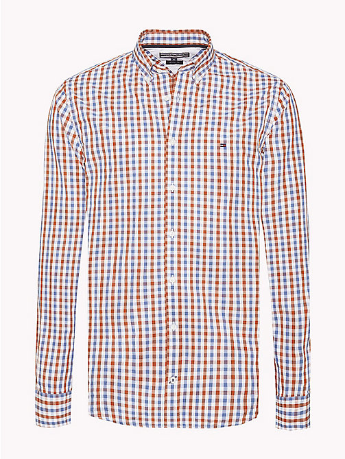 TOMMY HILFIGER Multi-Colour Gingham Regular Fit Shirt - CINNAMON STICK / DUTCH BLUE / BW - TOMMY HILFIGER Casual Shirts - main image