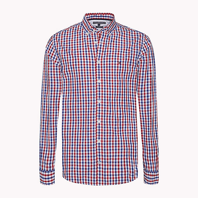 TOMMY HILFIGER Multi-Colour Gingham Regular Fit Shirt - CINNAMON STICK / DUTCH BLUE / BW - TOMMY HILFIGER Men - main image