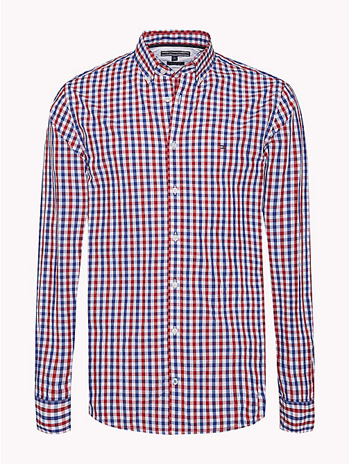 TOMMY HILFIGER Multi-Colour Gingham Regular Fit Shirt - HAUTE RED / SODALITE BLUE / BW - TOMMY HILFIGER Casual Shirts - main image