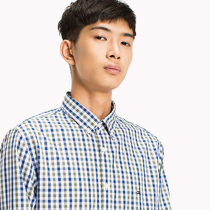 TOMMY HILFIGER Multi-Colour Gingham Regular Fit Shirt - REGATTA / SODALITE BLUE / BW - TOMMY HILFIGER Men - detail image 3