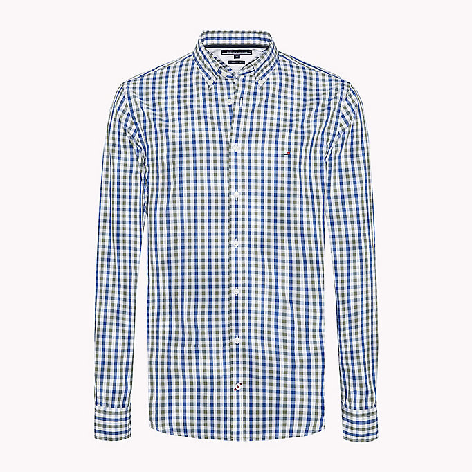 TOMMY HILFIGER Multi-Colour Gingham Regular Fit Shirt - REGATTA / SODALITE BLUE / BW - TOMMY HILFIGER Men - main image
