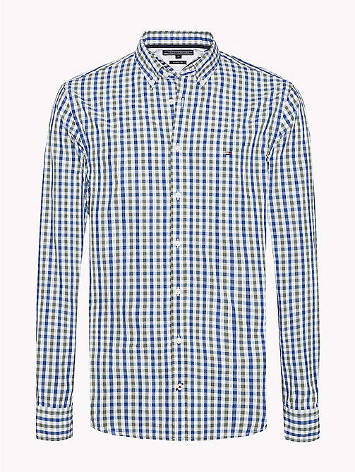 TOMMY HILFIGER Multi-Colour Gingham Regular Fit Shirt - FOUR LEAF CLOVER / LIMOGES / BW - TOMMY HILFIGER Casual Shirts - main image