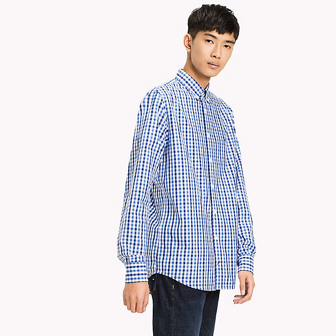 TOMMY HILFIGER Multi-Colour Gingham Regular Fit Shirt - HAUTE RED / SODALITE BLUE / BW - TOMMY HILFIGER Men - detail image 1