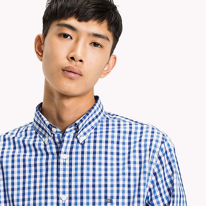 TOMMY HILFIGER Multi-Colour Gingham Regular Fit Shirt - HAUTE RED / SODALITE BLUE / BW - TOMMY HILFIGER Men - detail image 3