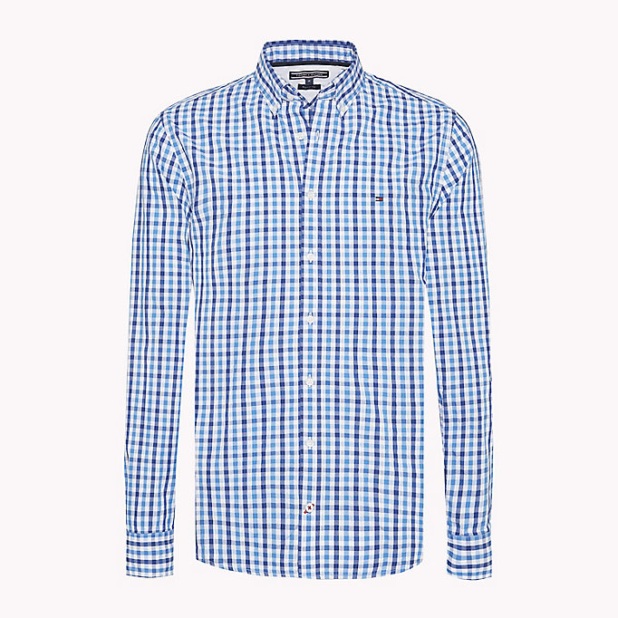 TOMMY HILFIGER Multi-Colour Gingham Regular Fit Shirt - HAUTE RED / SODALITE BLUE / BW - TOMMY HILFIGER Men - main image