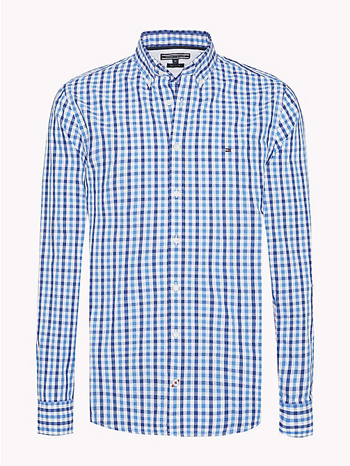 TOMMY HILFIGER Multi-Colour Gingham Regular Fit Shirt - REGATTA / SODALITE BLUE / BW - TOMMY HILFIGER Casual Shirts - main image