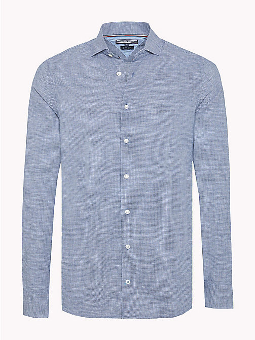 TOMMY HILFIGER Micro Check Slim Fit Shirt - ESTATE BLUE / BRIGHT WHITE - TOMMY HILFIGER Casual Shirts - main image
