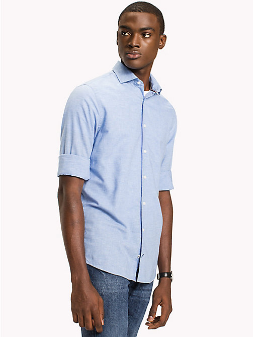 TOMMY HILFIGER Micro Check Slim Fit Shirt - SHIRT BLUE / BRIGHT WHITE - TOMMY HILFIGER Casual Shirts - detail image 1