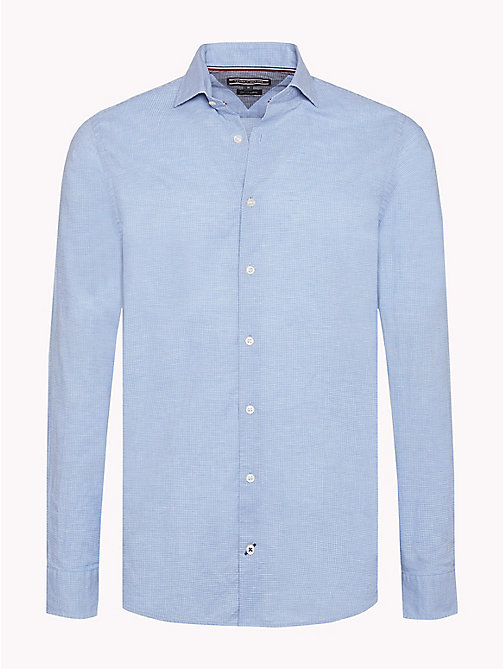 TOMMY HILFIGER Micro Check Slim Fit Shirt - SHIRT BLUE / BRIGHT WHITE - TOMMY HILFIGER Casual Shirts - main image