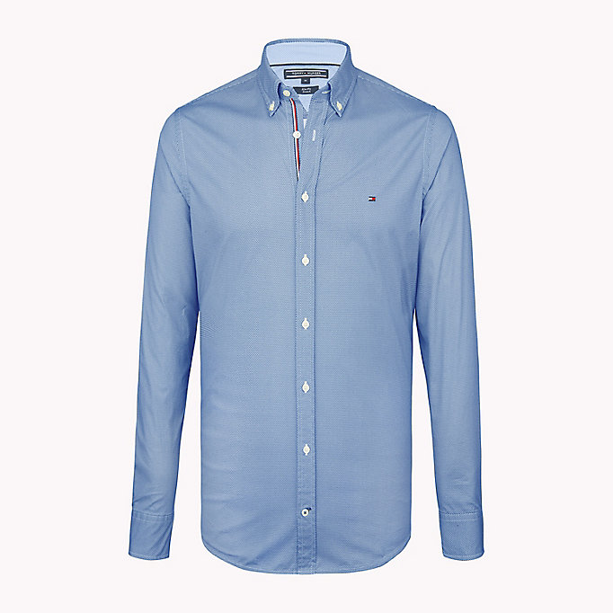 TOMMY HILFIGER Рубашка с принтом в виде шестиугольников - SHIRT BLUE / BRIGHT WHITE - TOMMY HILFIGER Одежда - главное изображение