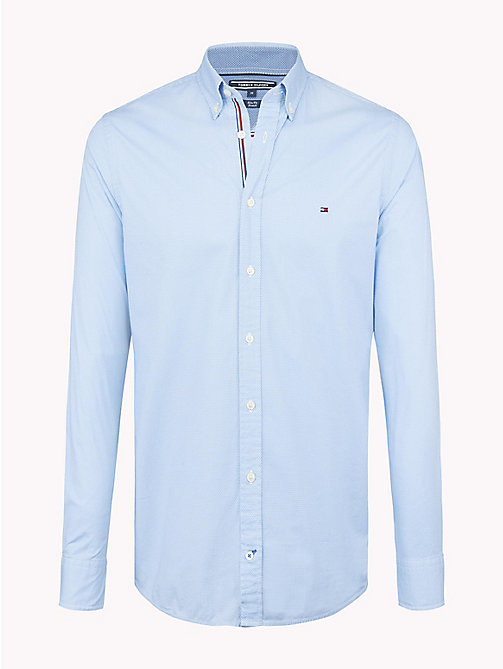 TOMMY HILFIGER Hexagon Print Slim Fit Shirt - SHIRT BLUE / BRIGHT WHITE - TOMMY HILFIGER Clothing - main image