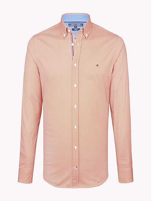 TOMMY HILFIGER Hexagon Print Slim Fit Shirt - CHUTNEY / BRIGHT WHITE - TOMMY HILFIGER Casual Shirts - main image