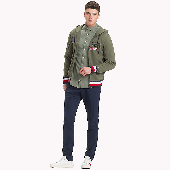 TOMMY HILFIGER Geverfd regular fit overhemd - ANGEL BLUE - TOMMY HILFIGER Heren - detail image 4