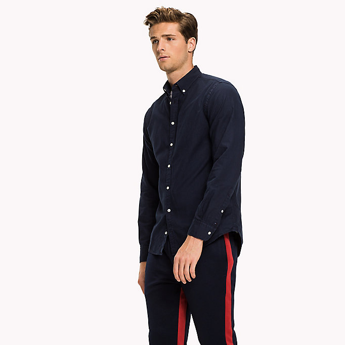 TOMMY HILFIGER Garment-Dyed Regular Fit Shirt - FANFARE - TOMMY HILFIGER Men - detail image 1