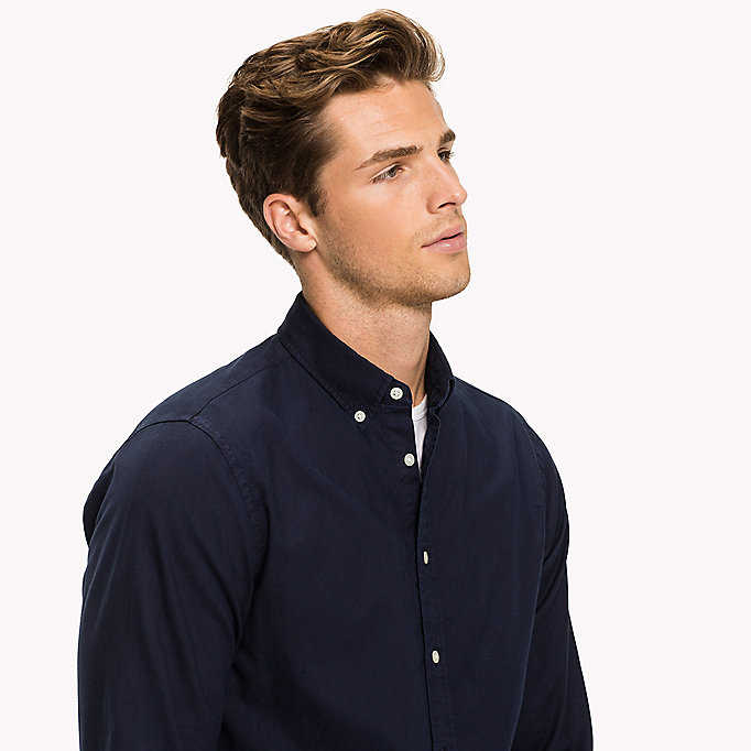 TOMMY HILFIGER Garment-Dyed Regular Fit Shirt - FANFARE - TOMMY HILFIGER Men - detail image 3