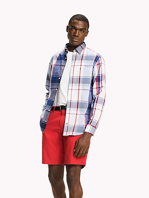 TOMMY HILFIGER Irregular Check Pattern Shirt - SODALITE BLUE / HAUTE RED / MULTI - TOMMY HILFIGER Casual Shirts - detail image 1