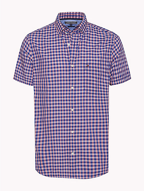 TOMMY HILFIGER Gingham Slim Fit Shirt - ROSE OF SHARON / SODALITE BLUE - TOMMY HILFIGER Casual Shirts - main image