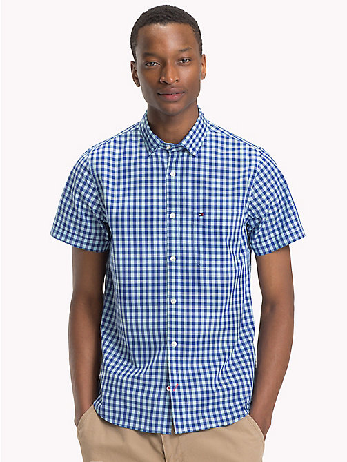 TOMMY HILFIGER Gingham Slim Fit Shirt - ANGEL BLUE / SODALITE BLUE - TOMMY HILFIGER Casual Shirts - detail image 1