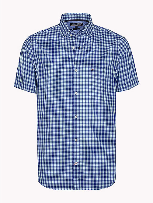 TOMMY HILFIGER Gingham Slim Fit Shirt - ANGEL BLUE / SODALITE BLUE - TOMMY HILFIGER Casual Shirts - main image