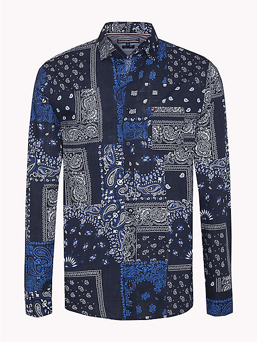 TOMMY HILFIGER Printed Regular Fit Shirt - MARITIME BLUE / BRIGHT WHITE - TOMMY HILFIGER New arrivals - main image