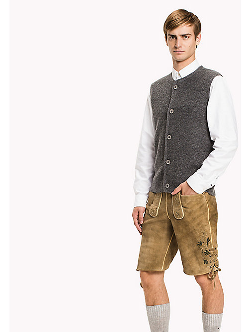 TOMMY HILFIGER Wiesn Weste aus Mohair-Wollgemisch - HEATHER GREY - TOMMY HILFIGER Pullover & Strickjacken - main image
