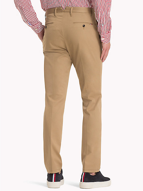 TOMMY HILFIGER Straight Fit Chinos - BATIQUE KHAKI - TOMMY HILFIGER Clothing - detail image 1