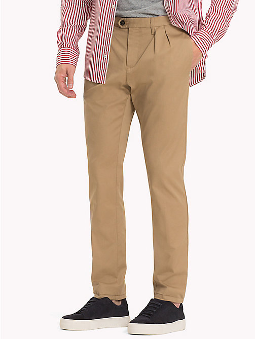 TOMMY HILFIGER Straight Fit Chinos - BATIQUE KHAKI - TOMMY HILFIGER Clothing - main image