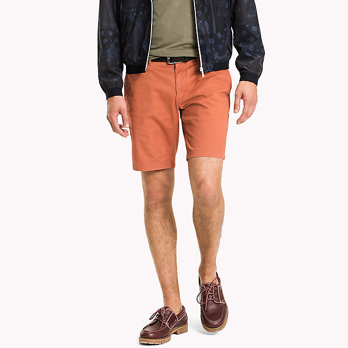 TOMMY HILFIGER Micro Print Regular Fit Shorts - ELMWOOD - TOMMY HILFIGER Clothing - main image