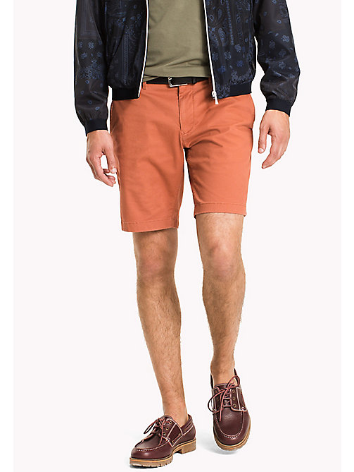TOMMY HILFIGER Micro Print Regular Fit Shorts - CHUTNEY - TOMMY HILFIGER Shorts - main image