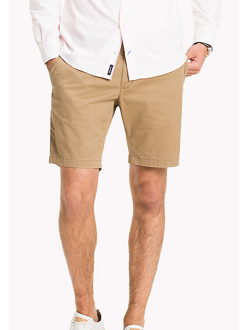 TOMMY HILFIGER Micro Print Regular Fit Shorts - ELMWOOD - TOMMY HILFIGER Shorts - main image