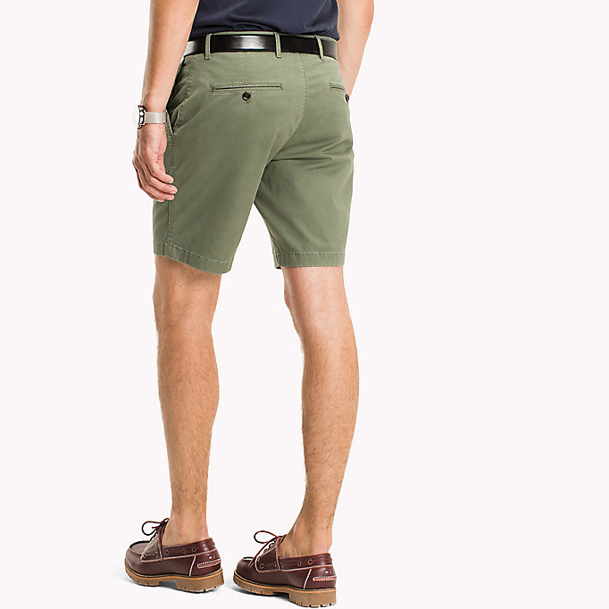 TOMMY HILFIGER Micro Print Regular Fit Shorts - DARK DENIM - TOMMY HILFIGER Clothing - detail image 2