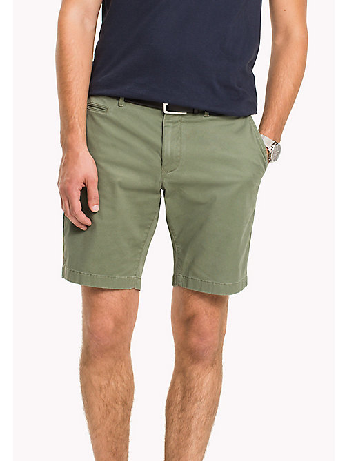 TOMMY HILFIGER Micro Print Regular Fit Shorts - FOUR LEAF CLOVER - TOMMY HILFIGER Trousers & Shorts - main image
