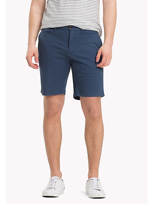 TOMMY HILFIGER Micro Print Regular Fit Shorts - DARK DENIM - TOMMY HILFIGER Shorts - main image