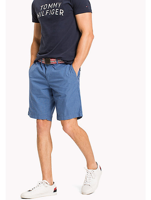 TOMMY HILFIGER Regular Fit Micro Check Shorts - REGATA - TOMMY HILFIGER Clothing - main image