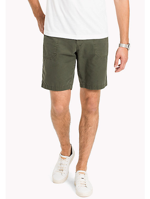 TOMMY HILFIGER Rip-stop Worker Shorts - FOUR LEAF CLOVER -  Clothing - main image