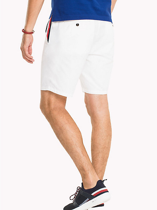 TOMMY HILFIGER Signature Tape Regular Fit Shorts - BRIGHT WHITE - TOMMY HILFIGER NEW IN - detail image 1