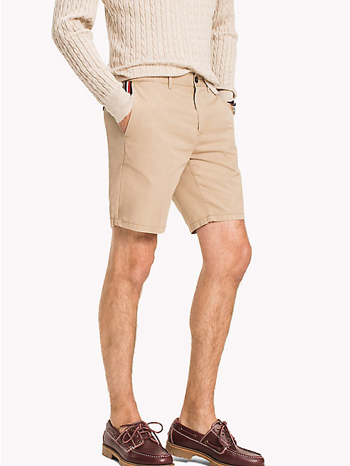 TOMMY HILFIGER Signature Tape Regular Fit Shorts - BATIQUE KHAKI - TOMMY HILFIGER Shorts - main image