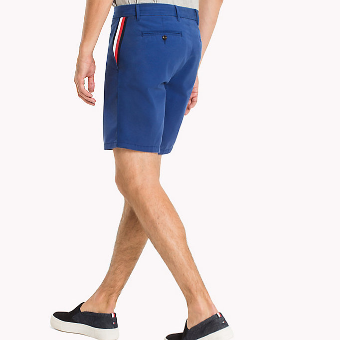 TOMMY HILFIGER Signature Tape Regular Fit Shorts - BATIQUE KHAKI - TOMMY HILFIGER Clothing - detail image 1