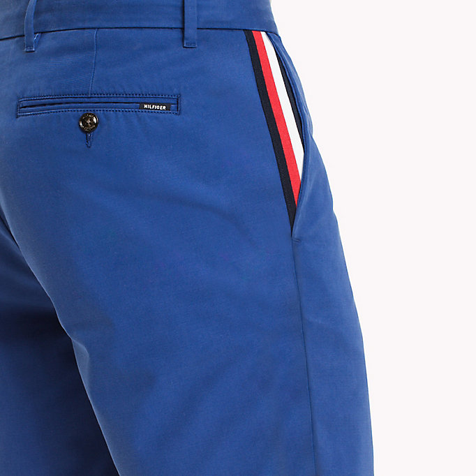 TOMMY HILFIGER Signature Tape Regular Fit Shorts - BATIQUE KHAKI - TOMMY HILFIGER Clothing - detail image 3