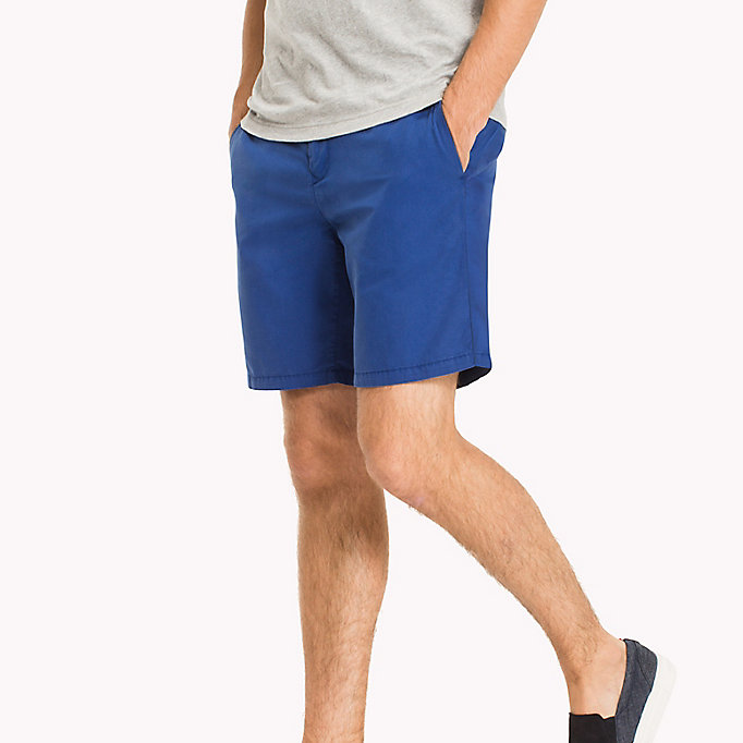 TOMMY HILFIGER Signature Tape Regular Fit Shorts - BATIQUE KHAKI - TOMMY HILFIGER Clothing - main image