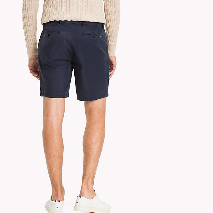 TOMMY HILFIGER Signature Tape Regular Fit Shorts - BRIGHT WHITE - TOMMY HILFIGER Clothing - detail image 1