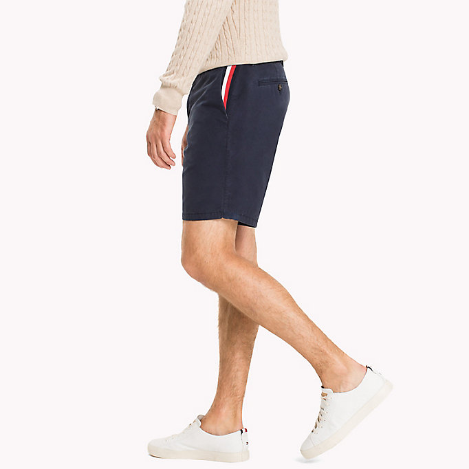 TOMMY HILFIGER Signature Tape Regular Fit Shorts - BRIGHT WHITE - TOMMY HILFIGER Clothing - detail image 2