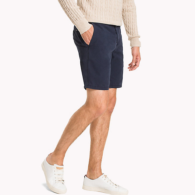 TOMMY HILFIGER Signature Tape Regular Fit Shorts - BRIGHT WHITE - TOMMY HILFIGER Clothing - main image