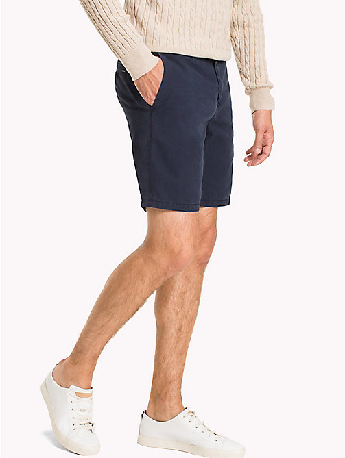 TOMMY HILFIGER Signature Tape Regular Fit Shorts - NAVY BLAZER - TOMMY HILFIGER Shorts - main image