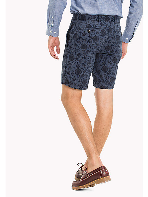 TOMMY HILFIGER Straight Fit Printed Shorts - VINTAGE INDIGO - TOMMY HILFIGER Clothing - detail image 1